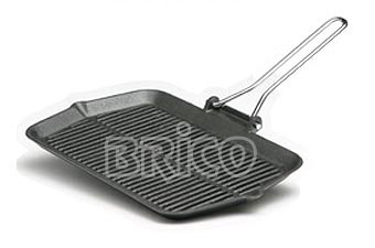 Rectangular Cast Iron Grill Pan With Wire Handle