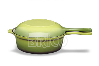 Brico Cast Iron Sauce Pan With Frypan Lid