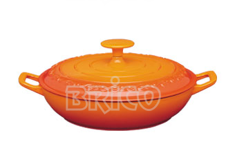 Cast Iron Covered Paella Pan
