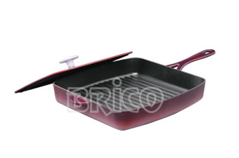 Cast Iron Grill Pan With Cast Iron Press Lid P29IHT