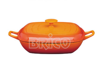 Cast Iron Covered Square Paella Pan